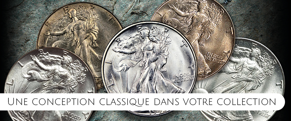 Le demi-dollar Walking Liberty