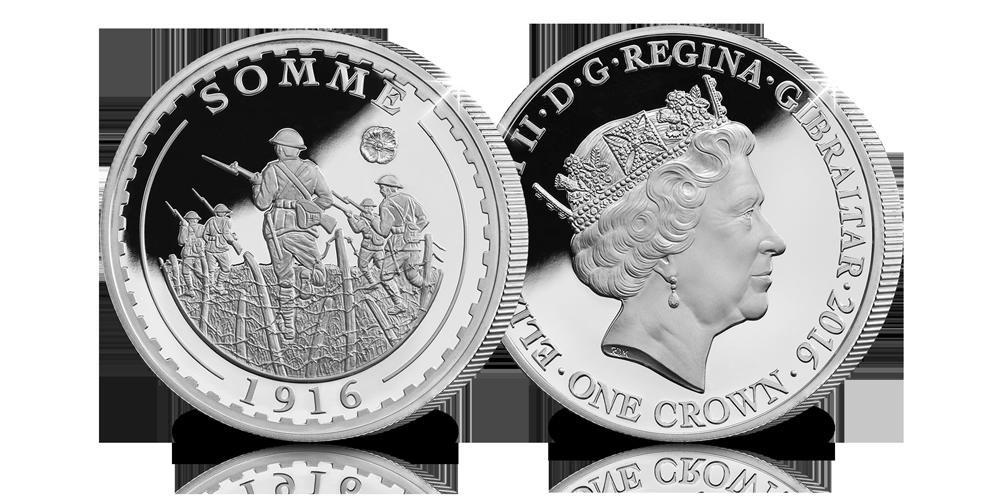 Pièce Commémorative en argent Sterling pour les 100 ans de la Bataille de la Somme