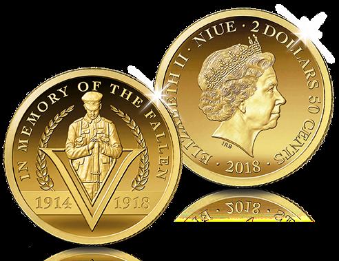 Pièce de 2,5 dollars en hommage aux 100 ans de la Grande Guerre