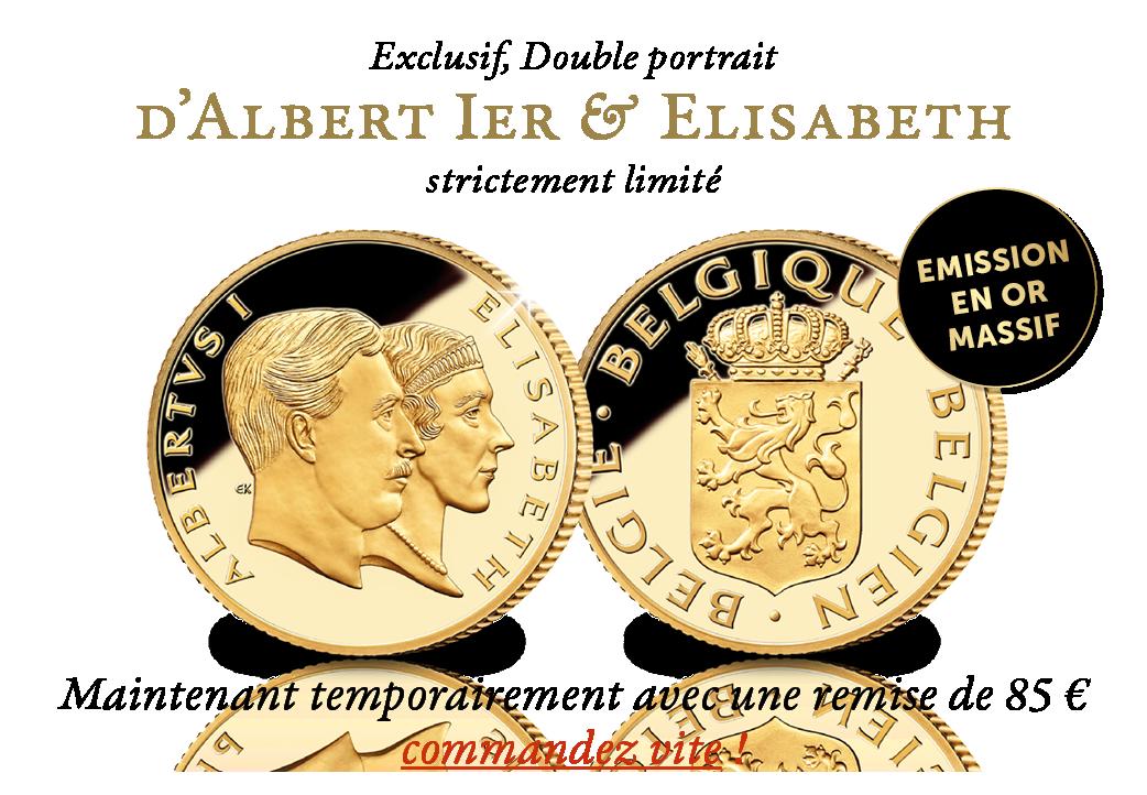 Exclusif, Double portrait d'Albert Ier & d'Elisabeth strictement limité