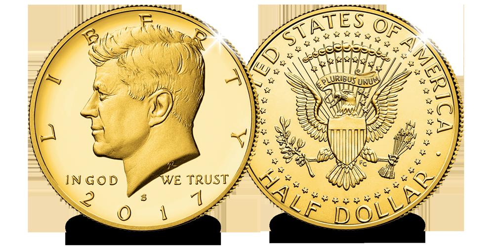 Le demi-dollar le plus populaire généreusement enrichi pour la première fois à l'or de 24 carats