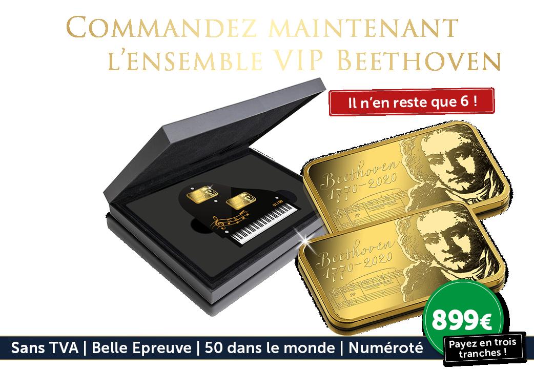 Le 250eme anniversaire de Beethoven honoré avec un ensemble de 7,5 grammes d'or pur !