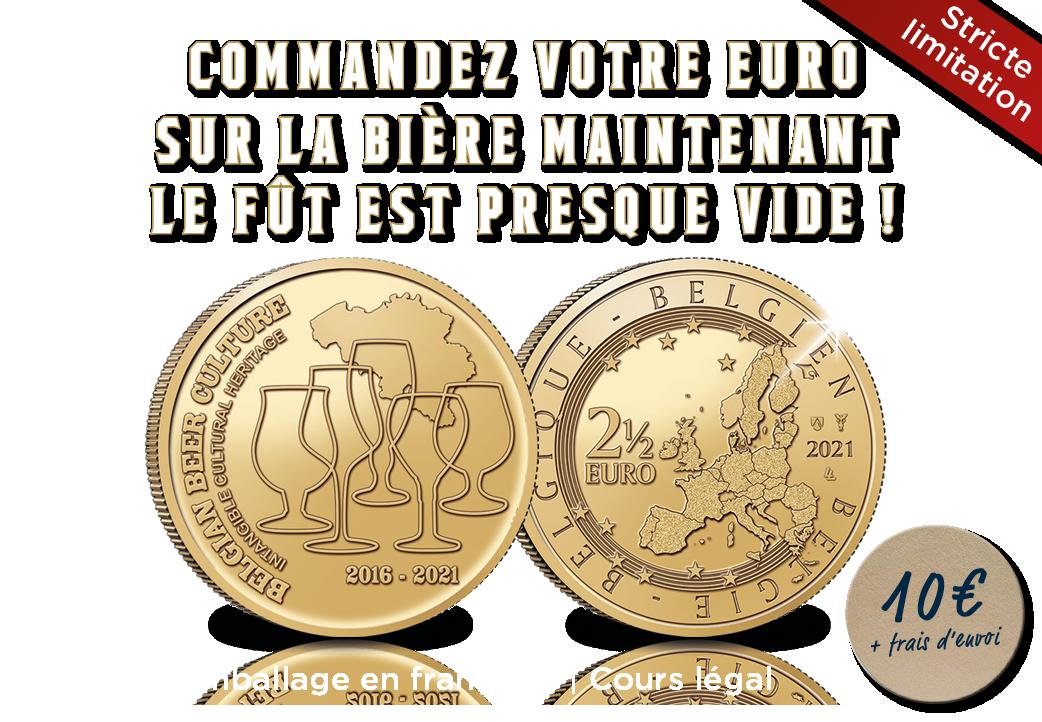 Pièce de 2,5 Euros Les 5 ans de la culture de la bière belge