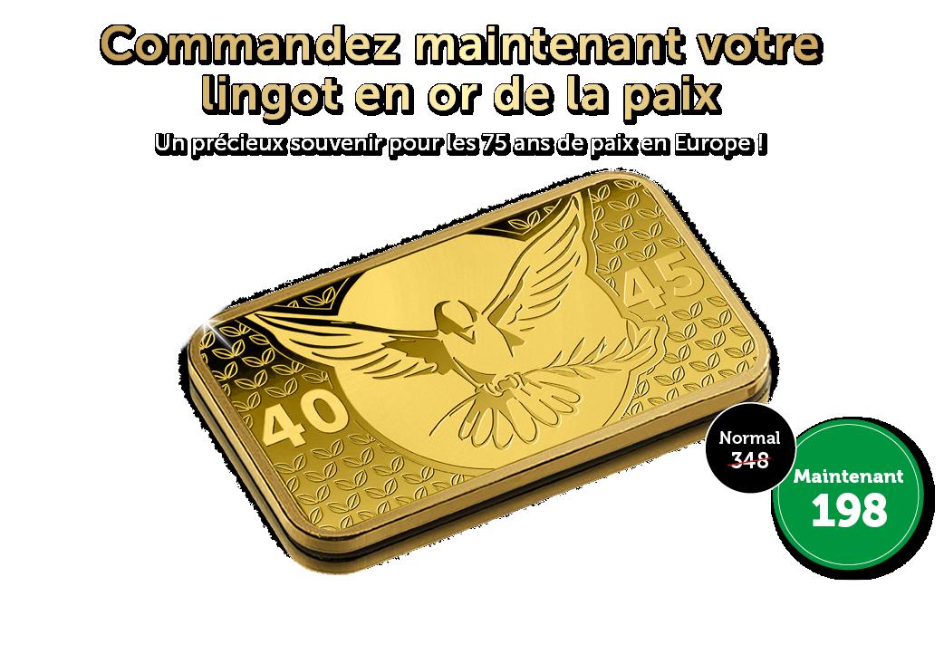 Lingot en or de la paix de 24 carats !