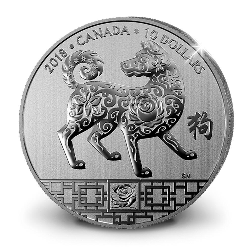 L'Année du Chien en ½ once d'argent pur