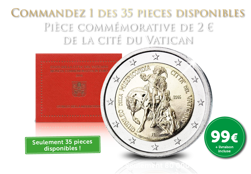 De la Cité du Vatican - Piece de 2 €, année de la Miséricorde 2016