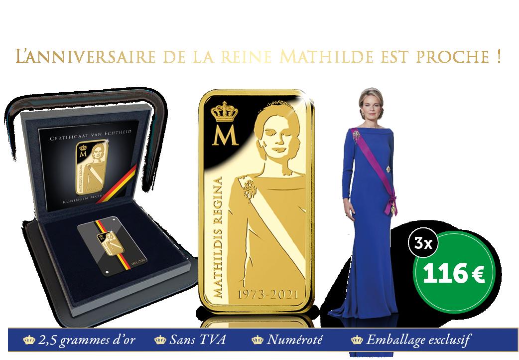 Le lingot en or Mathilde en l'honneur de son anniversaire !