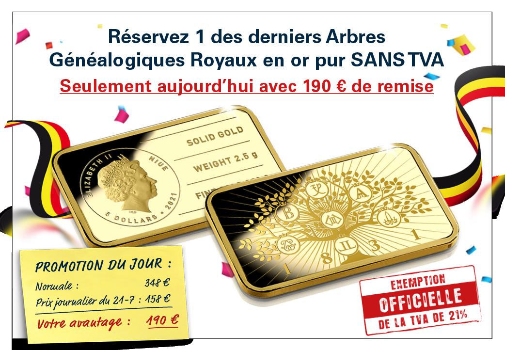 Le dernier lingot d'or massif 24 carats – L'Arbre Généalogique royal