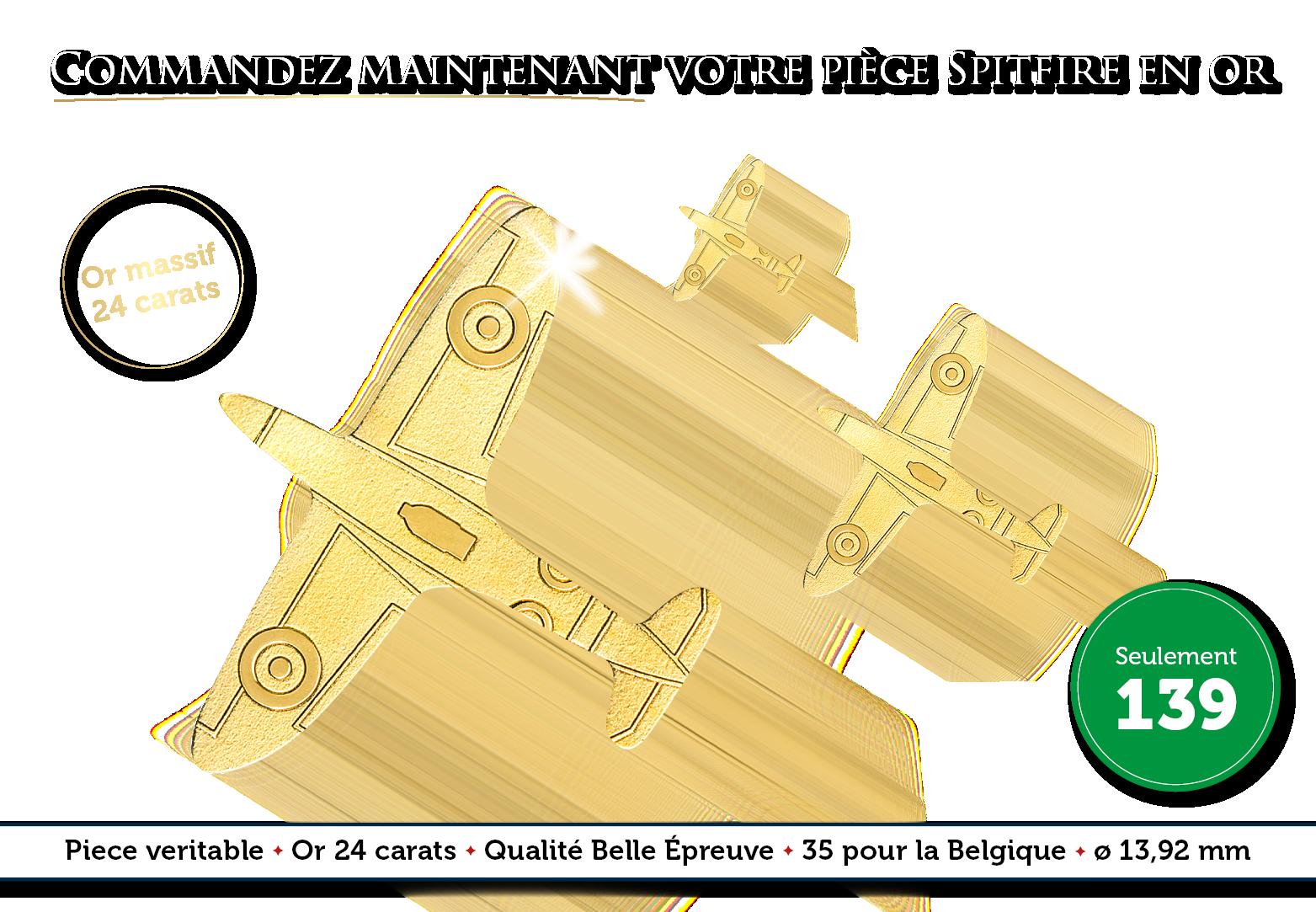 L'avion de chasse légendaire en or massif 24 carats !