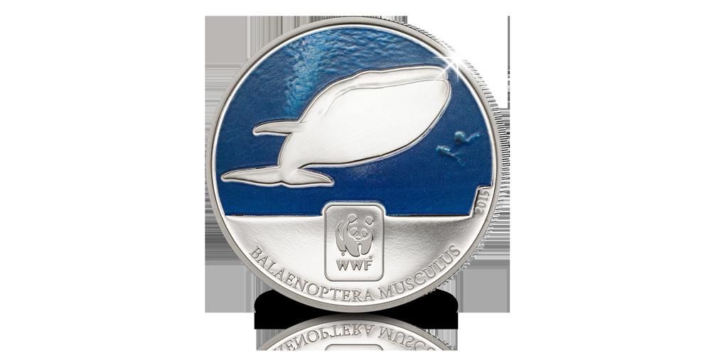 Pièce Officielle du WWF pour la Baleine Bleue menacée
