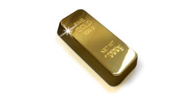 Barre réplique plaquée or d'un poids de 78 grammes