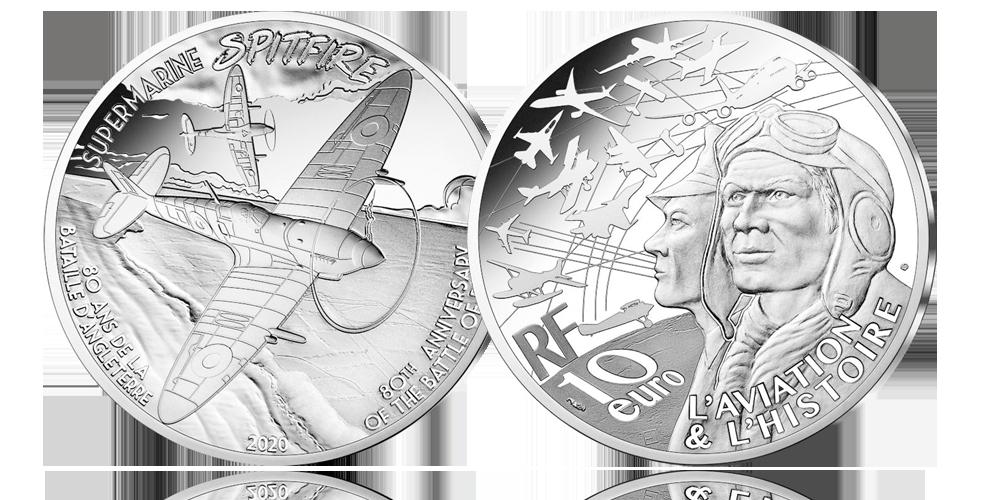 zilveren-euromunt-Spitfire--vzaz