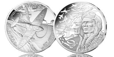 La pièce Euro Spitfire en argent  | Vos 10 euros 2020 en l'honneur de 80 ans de Bataille d'Angleter