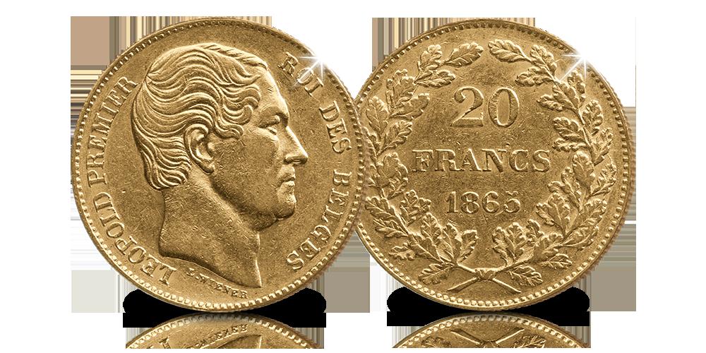 20-frank-1865-Voorzijde-en-Achterzijde