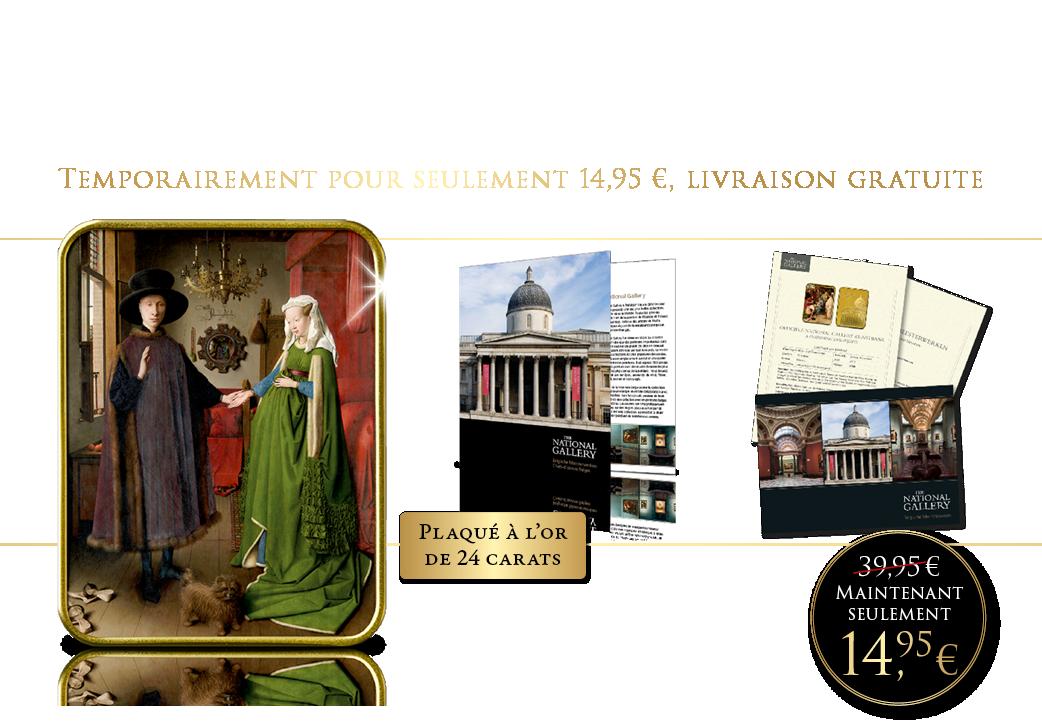 Le chef-d'oeuvre de Van Eyck plaqué or | Seulement 14,95 €