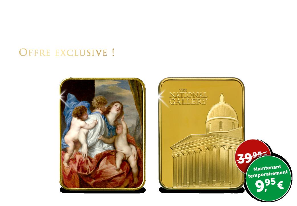 Limité lingot d'art plaqué à l'or de 24 carats ''Charité''