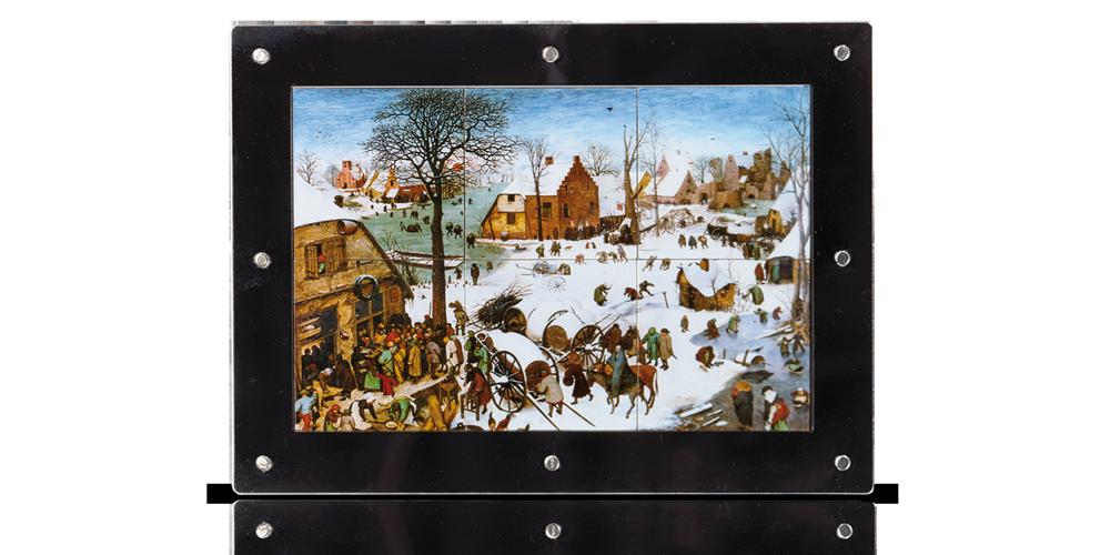 Pieter Brueghel l'Ancien réalisa « Le Dénombrement de Bethléem » sur 6 pièces d'argent - 255 grammes d'argent pur