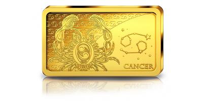 Votre lingot Cancer Ecrevisse en or pur