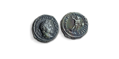 Caracalla Denarius en argent d'origine datant de 1800 ans | Caracalla Denarius en argent d'origine datant de 1800 a