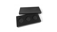 Protégez votre collection avec cette cassette luxueuse noire pour 3 monnaies