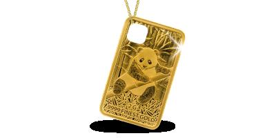 Chaîne avec pièce d'un Panda dans l'or le plus pur.