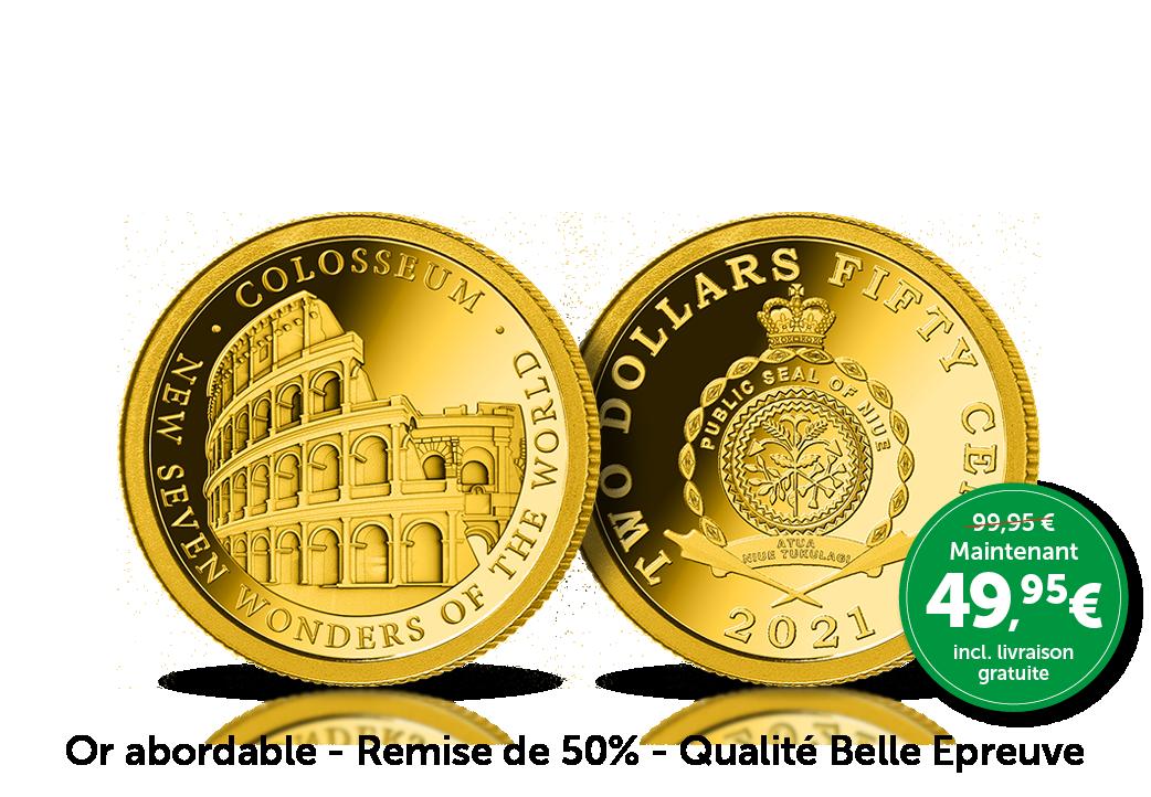 Le Colisée de Rome éternisé à jamais en or massif 24 carats !