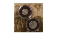 Reales 2 pièces en argent de 1772-1821 | L'original et les premières pièces de cow-boy