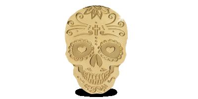Spéciale forme en or – le crâne de la Catrina