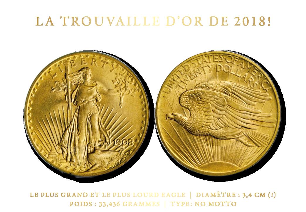 La Trouvaille D'or de L'année: 1908 St. Gaudens Double Eagle
