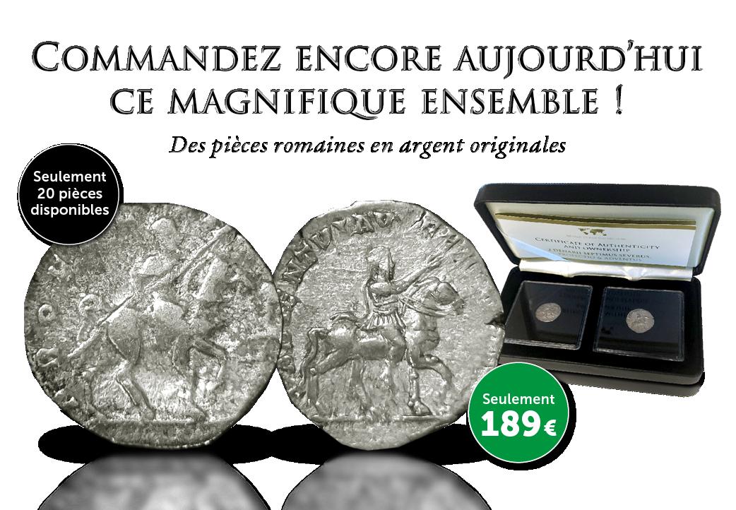 Beau ensemble de 2 pieces romaines originales !