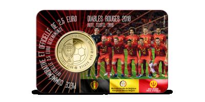 Pièce de 2,5 euros Belgique 2018 « Diables rouges »