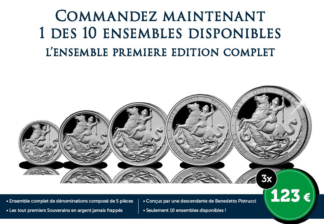 L'ensemble complet de Souverains en argent première Edition