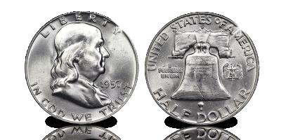 Dollar en argent iconique ! Benjamin Franklin   Votre Benjamin Franklin Demi-Dollar 1948-1963