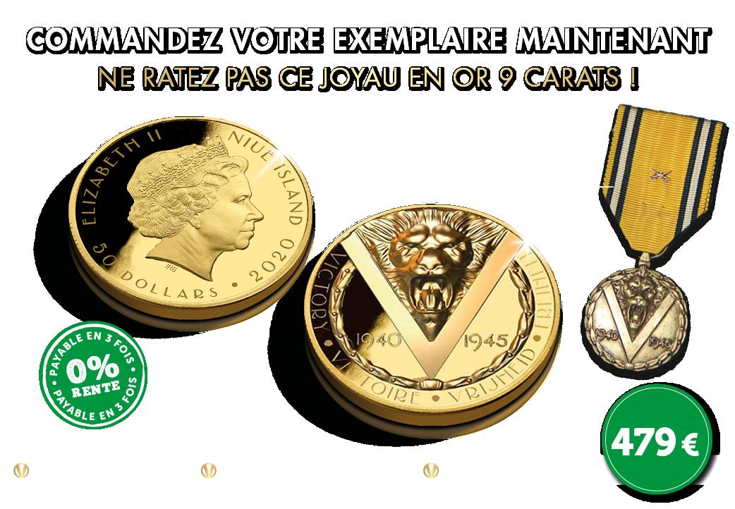 La médaille originale pour les héros des champs de bataille