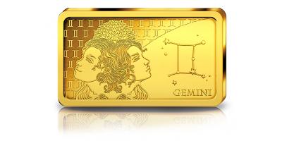Votre lingot Gémeaux en or pur