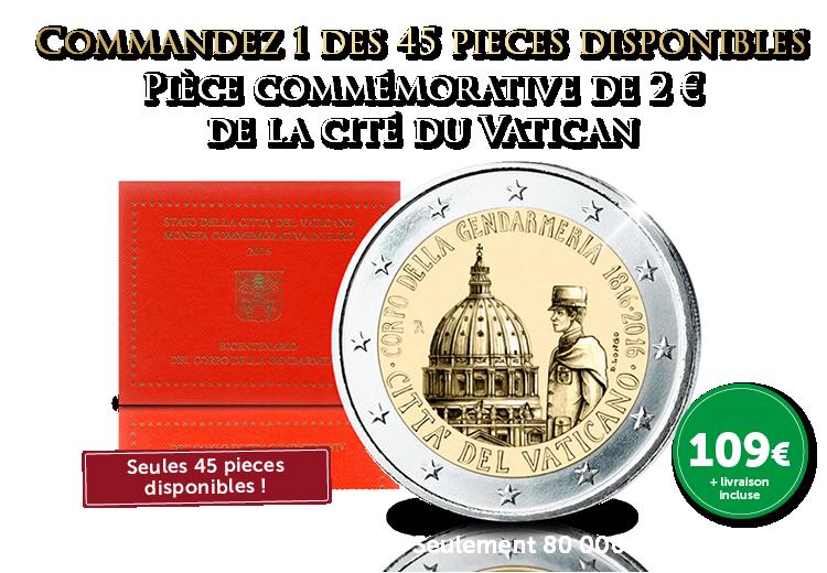 De la Cité du Vatican - Piece commémorative de 2 €