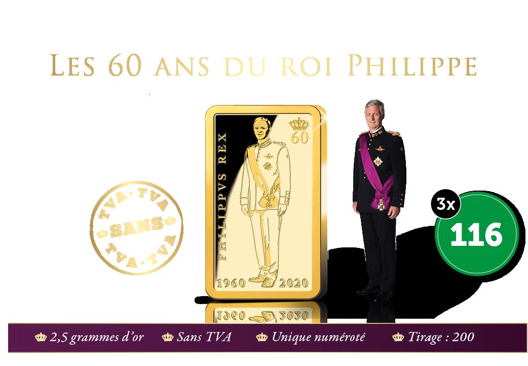 Portrait d'état en l'honneur des 60 ans du roi Philippe