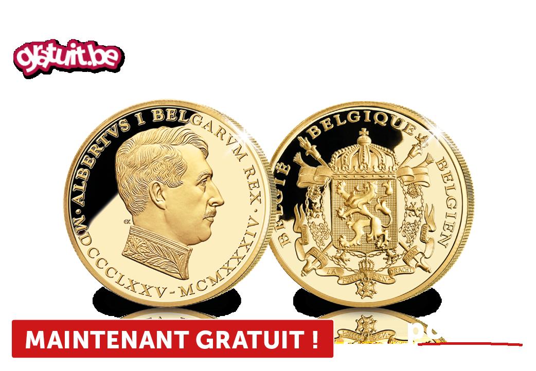 Notre Roi-Chevalier plaqué or pur 24 carats
