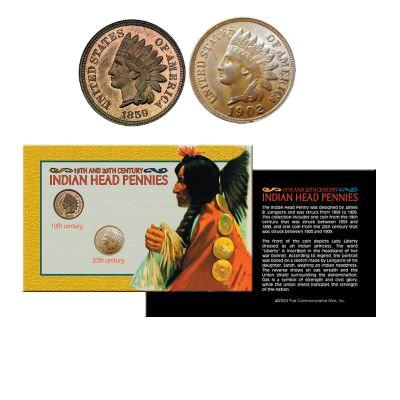 L'ensemble Indian Head Pennies du 19eme et 20eme siècle