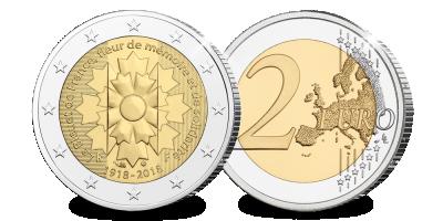 Pièce de 2 Euros, émission spéciale française ''Le bleuet'' | Votre € 2,- LE BLEUET DE FRANCE