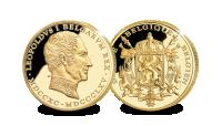 Premier Roi des belges en 14 carats d'or massif.