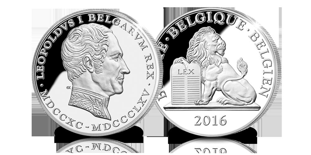Le Premier Roi des Belges en platine rare