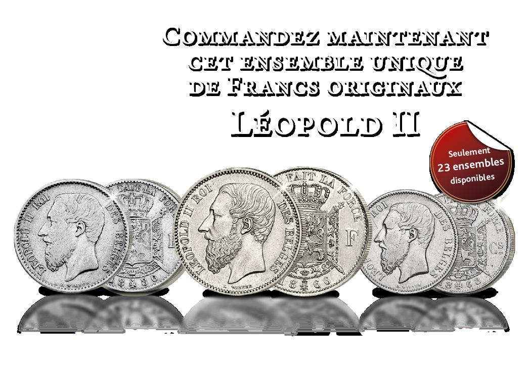 3 Francs originaux roi Léopold II