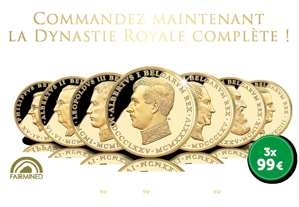 Commandez maintenant avec une remise de 50 € La Dynastie Royale complète de Belgique