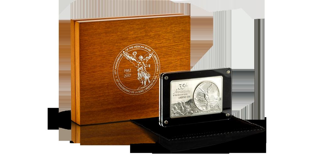 Edition Limitée Libertad « 1982 - 2017 » - 93,405 grammes d'argent pur