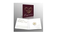 lingot porte-bonheur en or pur d'1/100 once avec une carte-cadeau pour mariage