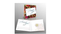 ingot porte-bonheur en or pur d'1/100 once avec une carte-cadeau pour merci