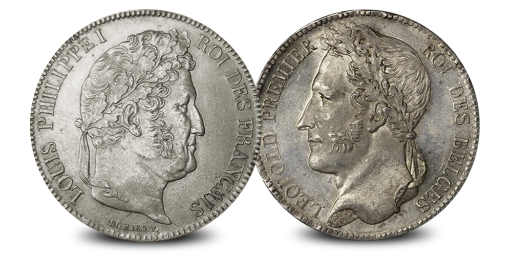 Louis Philippe et Léopold Ier, Beau-père et beau-fils sur leurs pièces de 5 francs en argent