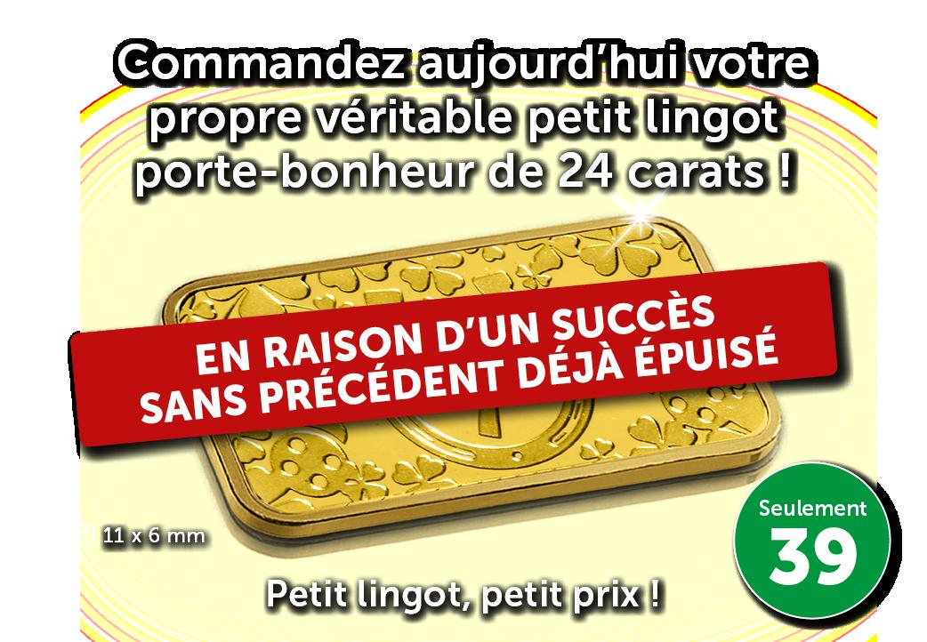 Offre en Or   Petit lingot en or pour un tout petit prix !
