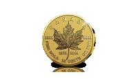 La légendaire Maple Leaf en or massif émise en édition anniversaire célébrant ses 40 ans d'existence.